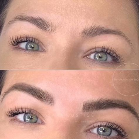 This signature cosmetic tattoo eyebrow treatment is modern & revolutionary✨This is NOT microblading. Using a machine with the finest needles we can transform your face, by creating your eyebrows strand-by-strand, for the most natural-looking 3D-like results; perfectly filled-in,and balanced.