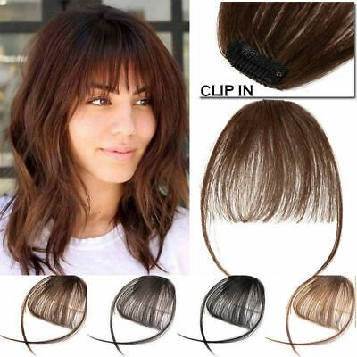 Thin Neat Air Bangs Real Human Hair Clip On Bangs Clip In Front Fringe Hairpiece Ebay In 2020 Remy Human Hair Extensions Hair Pieces Human Hair Extensions Clip
