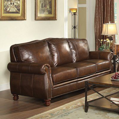 Super Darby Home Co Linglestown Leather Sofa In 2019 Products Pabps2019 Chair Design Images Pabps2019Com