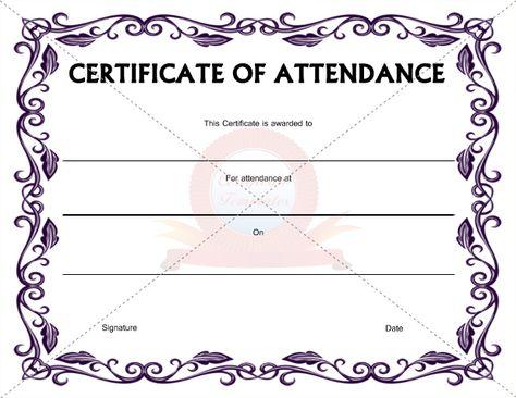 Certificate of Attendance Template CERTIFICATION OF ATTENDANCE - attendance template