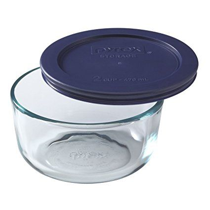 Pyrex Storage Round Dish With Dark Blue Plastic Cover Clear 2 Cup Pack Of 3 Review Pyrex Storage Storing Food Storage Food Container Set