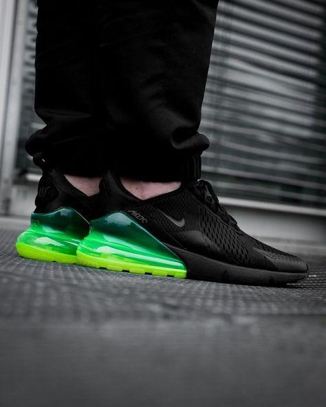 Nike Air Max 270 | BlackNeon Green | Mens Trainers [AH8050