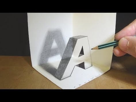 Floating Letter O Drawing Letter O With Pencil Marker 3d Trick Art Vamosart Youtube Drawing Letters 3d Drawings Hard Drawings