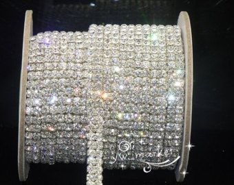 15mm 3 row faux diamond diamante ribbon trim wedding cake decoration bling