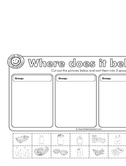 Teach This Worksheets Create And Customise Your Own Worksheets Kindergarten Worksheets Printable Preschool Worksheets Recycling Sorting Recycling worksheets for kindergarten