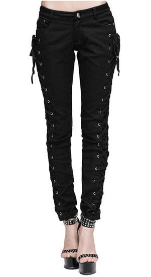 Banned Move on up rouge tartan Jeans-Femmes Skinny Jeans-Alternative Jeans