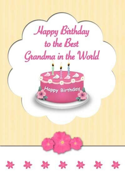 Pin By Ekathva On Happy Birthday Collection Grandma Cards Free