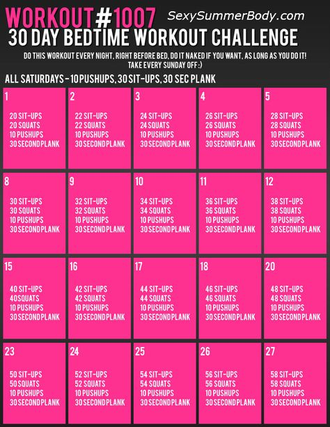 30 Day Bedtime Workout