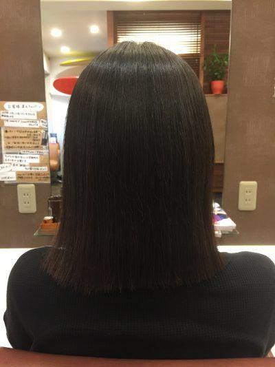 カットでクセが治る 髪 ストレート 縮毛矯正 ショート 縮毛矯正