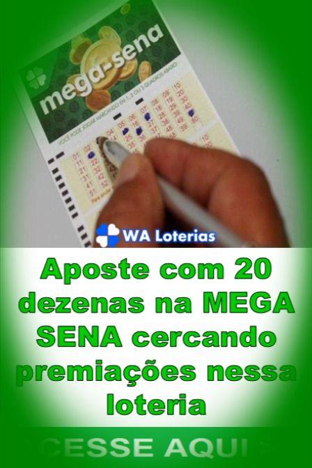 Mega Sena Com 20 Dezenas Desdobradas Mega Sena Sena Loterias