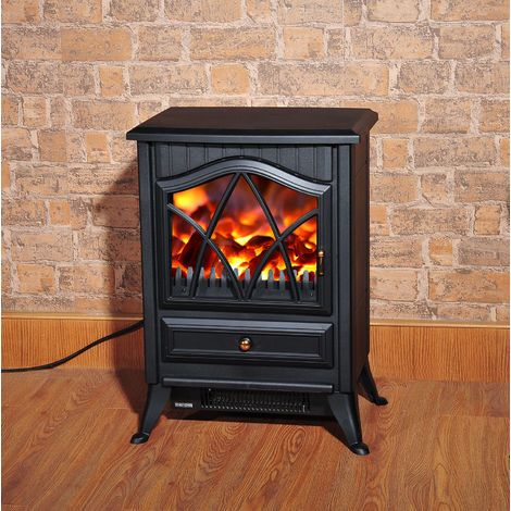Homcom 1850w Log Burning Flame Effect Stove Heater Electric Fire Place Fan 02 0100 Free Standing Electric Fireplace Electric Fireplace Logs Electric Fires