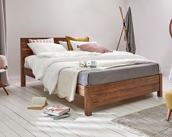 Low Modern Wooden Bed Frame By Get Laid Beds With Images Wooden Bed Modern Wooden Bed Wooden Bed Frames