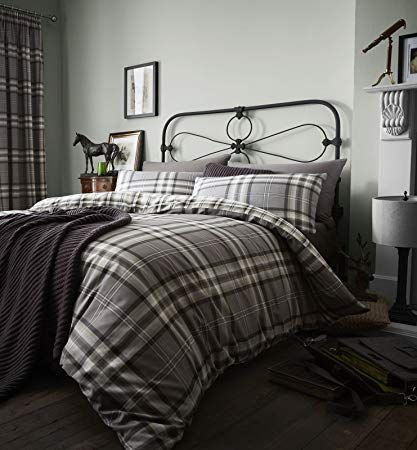 HOUSE ADDITIONS Kelso Duvet Cover /& Pillowcase Red SINGLE