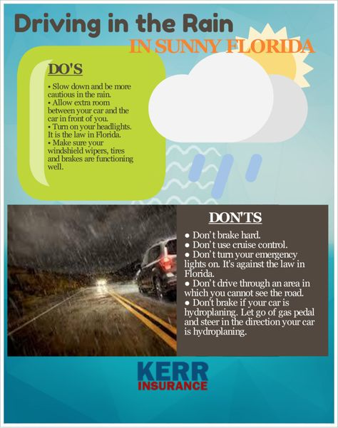 Driving In The Rain In Florida Driving Drive Safe Rain