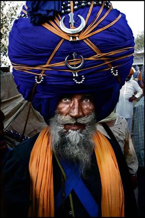 This dude knows how to wear a hat.     Punjab, India  Portraits india 2008 - 5 by Gorgoro