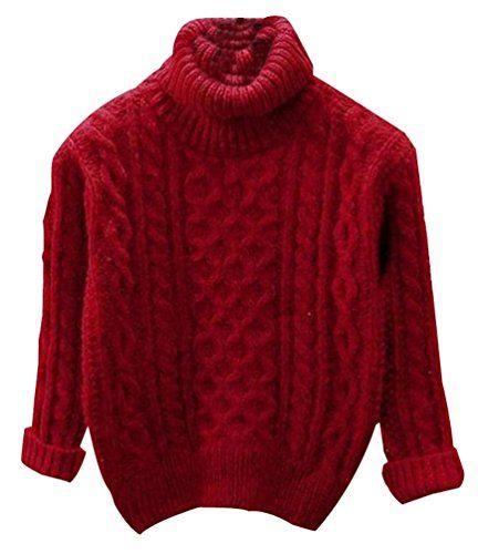 timeless design 6cc92 9fea2 Fuxiang Grobstrick Pullover Damen Hoher Kragenpullover ...