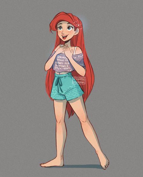 Pixar Drawing It's Ariel -