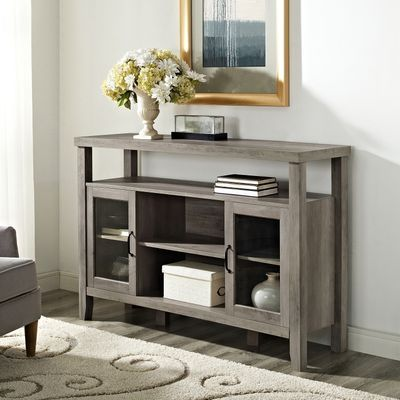 Highboy Graywash Wooden Console Table Wooden Console Table Wooden Console Farmhouse Style Tv Stand