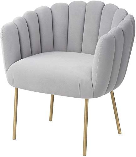 Best Seller Mexiya Doloris Modern Light Grey Easy Clean Velvet Upholstered Feather Side Chair Brushed Gold Leg Online In 2020 Side Chairs Upholster Sofa Side Table