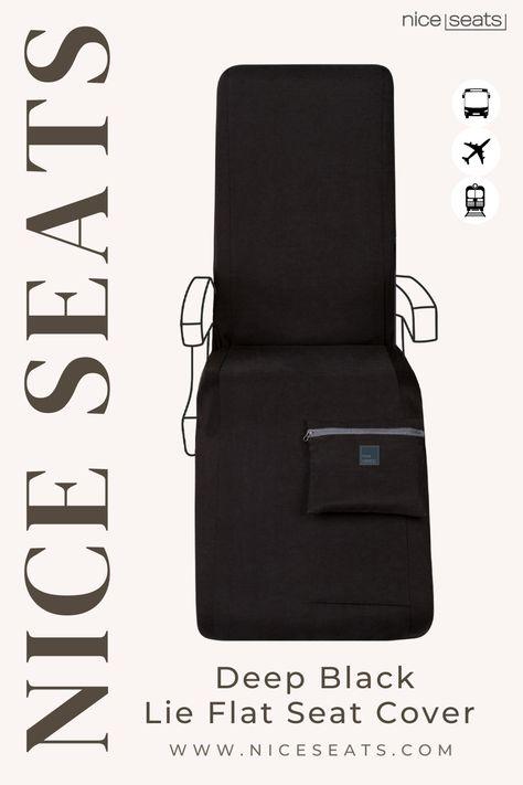 Deep Black Lie Flat Travel Set | NiceSeats