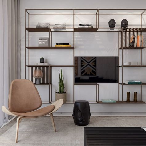 Stylish living room entertainment cabinets that will blow your mind    Bookshelves in living room, Dreamy living room, Living room modern