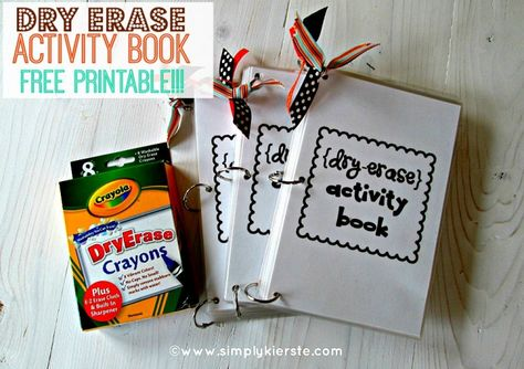 {dry erase activity books}