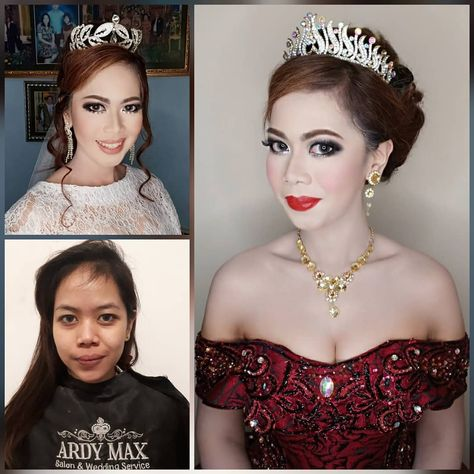 the wedding of miss theresia & mr. stevi make up & hijab