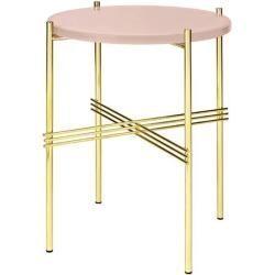Gubi Ts Coffee Table Beistelltisch 80cm H 35cm Tischplatte Glas Messing Vintage Red Gubigubi Gubi Side Table Glass Table