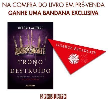 Trono Destruido Serie A Rainha Vermelha Acompanha Bandana