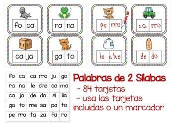 Juego De Silabas By Learning Palace Teachers Pay Teachers Dual Language Spanish Teachers Pay Teachers Teacher Newsletter
