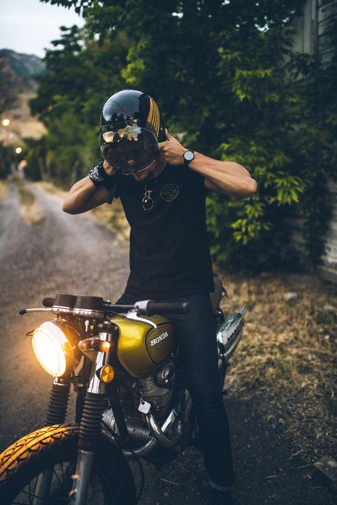 Arvowear Motorbike Watch Style Leather Black Wild Minimal Unisex Biker Photography Bike Photoshoot Vintage Helmet