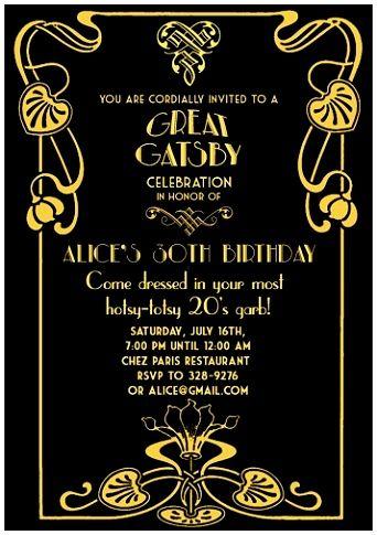 6 Great Gatsby Invitation Template Great Gatsby Invitation Gatsby Invitations Invitation Template