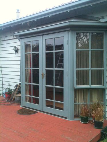Converting Bay Window To French Doors