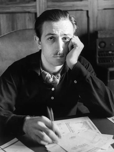 Walt Disney Sitting at His Desk Premium Photographic Print by Alfred Eisenstaedt at AllPosters.com