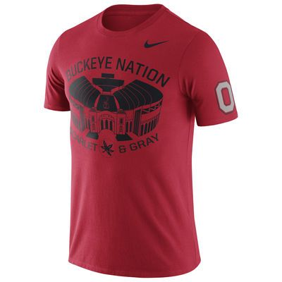 Ohio State Buckeyes Nike Enzyme Washed Campus Elements T-Shirt - Scarlet