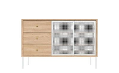 Buffet Gabin Harto Blanc Bois Naturel Made In Design Kommode Weiss Hochglanz Produktdesign Sideboard Massivholz