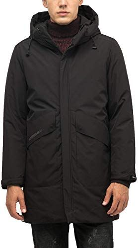 Sutu Mens Down Jacket with Hood Mid-Length Down Parka