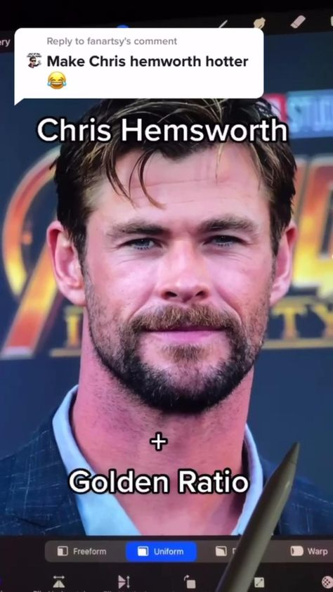 Chris Hemsworth and golden ratio