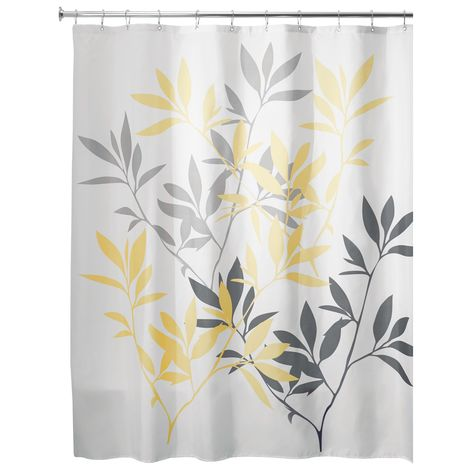 Fabric Shower Curtain Multicolor Forest Leaves with Reinforced Grommets SC-03