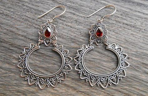 Handmade Jewellry Best Gift For Girls Black Onyx Silver Plated 7 Grams Earring 1.75 Long