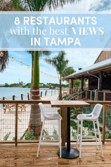 8 Restaurants with the Best Views in Tampa — This Babe Eats Clearwater Florida, Sarasota Florida, Old Florida, Florida Travel, Florida Vacation, Kissimmee Florida, Places In Florida, Florida Beaches, Bars In Tampa