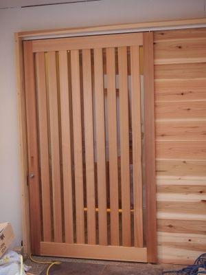 和風玄関入口引き戸 杉のぬくもり 玄関 和風 引き戸 建具