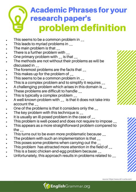 Academic Phrases for Research Paper: Problem Definition
