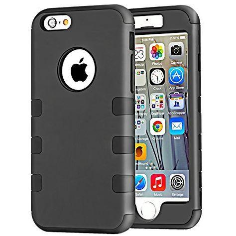 Vakoo® iPhone 6 4.7'' Hülle Case [Ganzkörper Hüllen] Hybride Stoßfest Handy Schützende Protective Case Armor Bumper Rückschale Tasche Cover Etui für Apple iPhone 6 Air 4.7 Zoll (Schwarz) von Vakoo, http://www.amazon.de/dp/B00VLYE13Q/ref=cm_sw_r_pi_dp_Xdcnwb1RSCQN8