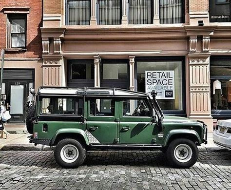 """""""An Englishman in New York"""", Soho fashion district.  By @classiccarstories…"""