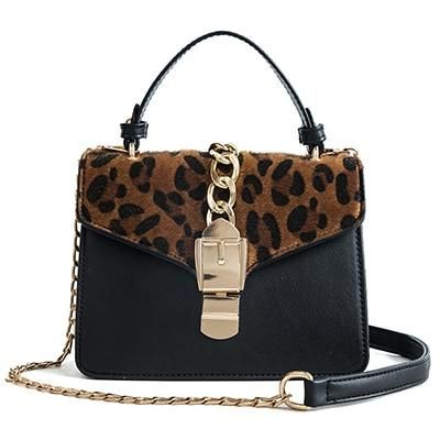 b48f61bef069 Luxury Women Handbag Bag Leopard Print Women Bags Chain Shoulder ...