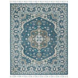 Safavieh Handmade Aspen Leta Boho Tribal Wool Rug Blue Area Rugs