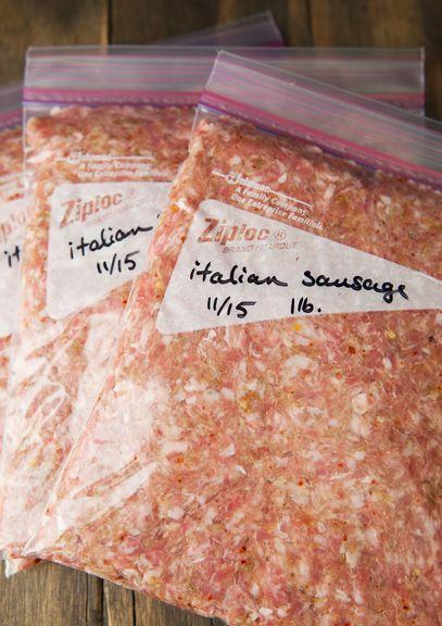 Homemade Bulk Italian Sausage Recipe Use Real Butter Italian Sausage Recipes Homemade Sausage Recipes Venison Sausage Recipes