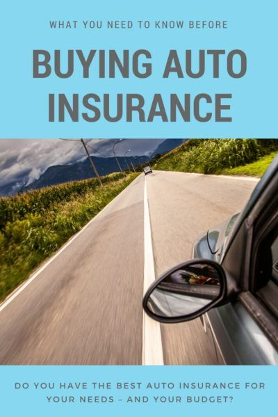 What You Need To Know Before Buying Auto Insurance Car Insurance