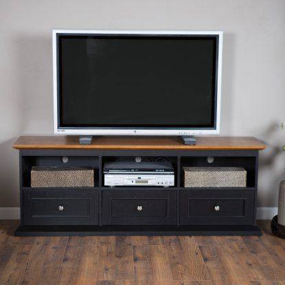 Belham Living Hampton Tv Stand With Drawers Black Oak